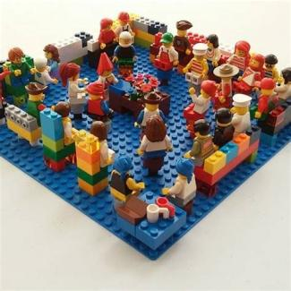 Meeting for Worship - depicted in LEGO